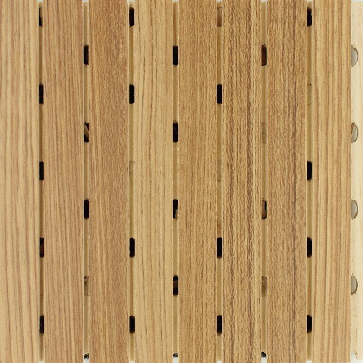 直纹柚木色吸音板