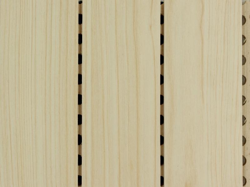 61-3条形枫木色实木吸音板