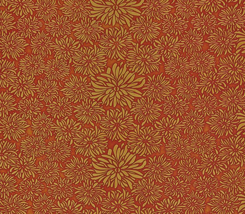 菊花纹模压浮雕板