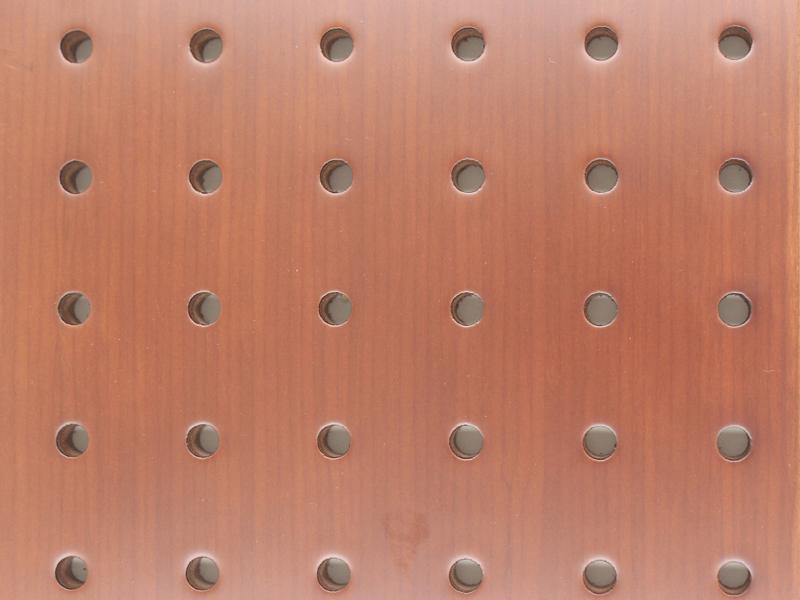木皮油漆穿孔吸音板