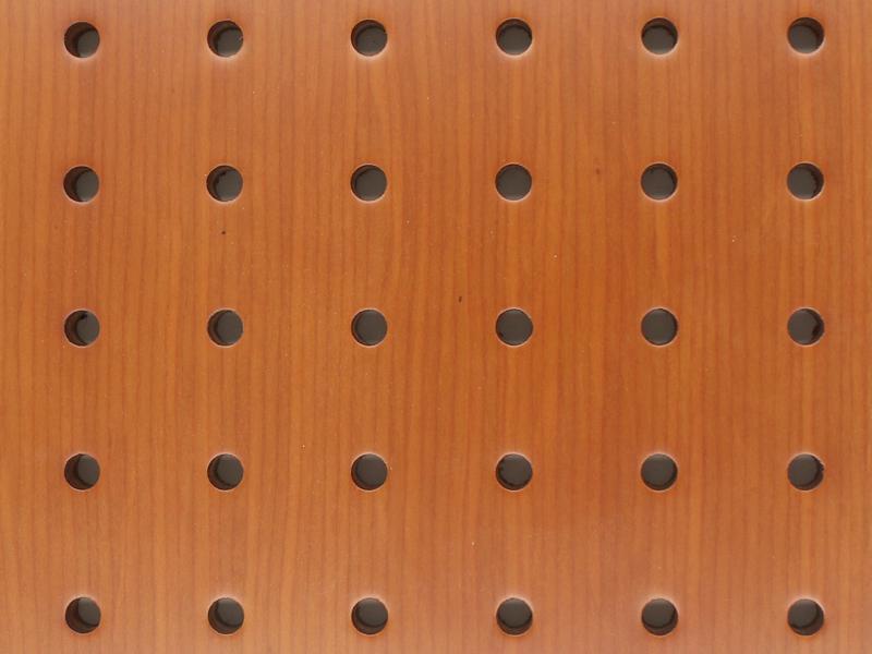 木饰面穿孔吸音板