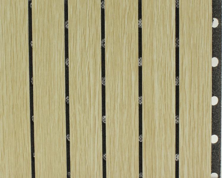 橡木色阻燃陶铝吸音板