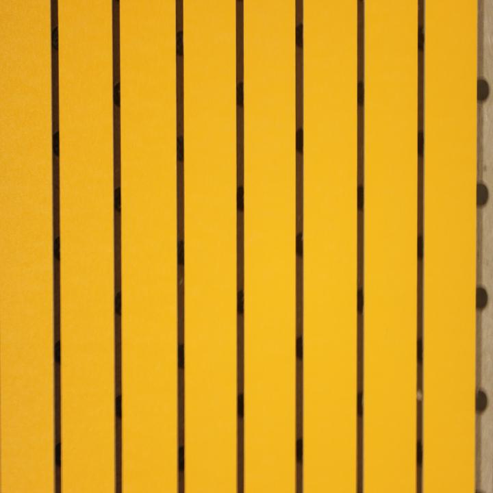 大黄色中条形吸音板