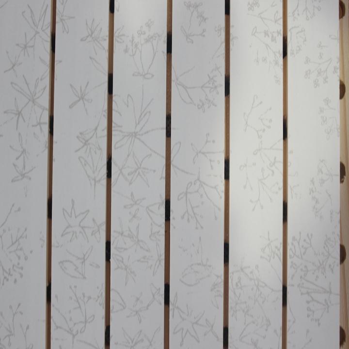 艺术花饰面实木吸音板