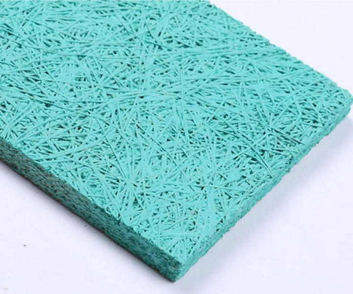 天蓝色木丝吸音板