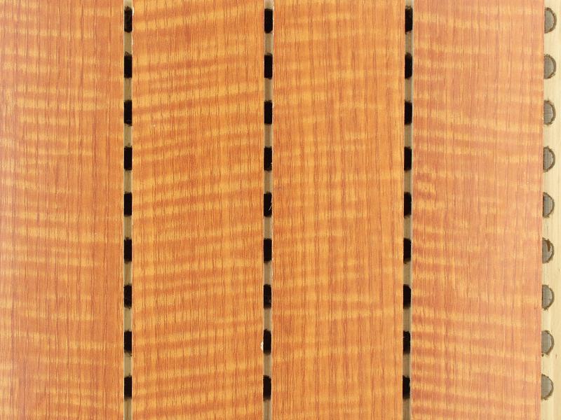 45-3条形红影木实木吸音板